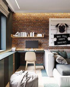 Bedroom lighting design loft ideas for 2019 Apartment Office, Apartment Design, Loft Office, Cheap Apartment, Bedroom Lighting, Bedroom Decor, Office Lighting, Bedroom Ideas, Home Office Design