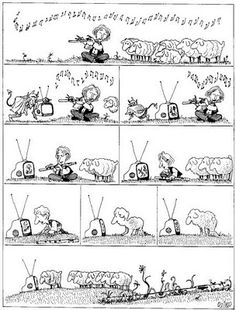 I want a poster of this. Joaquín Salvador Lavado, better known as Quino Humor Musical, Music Humor, Carole King, Antonio Cicero, Bono Vox, Agatha Christie, Funny Images, Funny Pictures, Funniest Pictures
