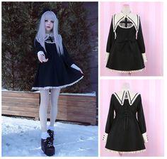 Sweet Lolita Vintage Gothic Long Sleeve Cross Dress Princess Cute Punk#5-1-2 #Unbranded
