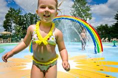 Many of the campgrounds have fun splash pads to please the younger crowd :)