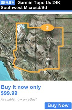 GPS Software and Maps Garmin Topo Us 24K Southeast MicrosdSd BUY