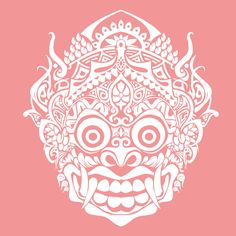 Balinese barong mask by torikpresto Doodles Zentangles, Blackwork, Barong Bali, Balinese Tattoo, Dragons, Mask Drawing, Mask Tattoo, Tattoo Fish, Art Asiatique