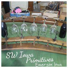 Wine / Whiskey barrel furniture SW Iowa Primitives Emerson Iowa