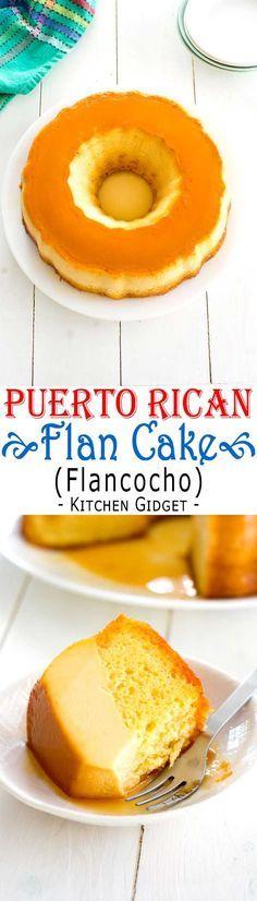 Puerto Rican Flancocho - easy flan cake recipe! #puertoricanfood #cake #recipe