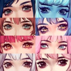 Doing this eye thing so imma join anime eyes, manga eyes, eye art, chicas. Digital Painting Tutorials, Digital Art Tutorial, Art Tutorials, Drawing Tutorials, Art Sketches, Art Drawings, Eyes Meme, Manga Eyes, Anime Eyes Drawing