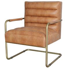 Vintage and Gold. Two things that will always be cool. Also the two words we would use to describe the Mesquite Lounge Chair ;) -Gold-Cotton, Bonded Leather, A