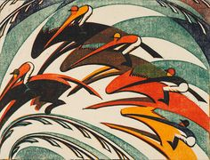 Sybil Andrews, Racing, 1934 Sybil Andrews Canadian (1898-1992) Racing, 1934 Linocut on paper Collection of Glenbow Museum. Purchase, 1980 80.19.2