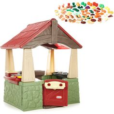 Little Tikes Home & Garden Playhouse and Step2 Play Food Set - Value Bundle