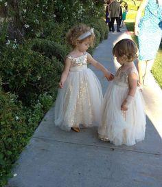 #flower girl dresses #gold sequins flower girl dresses #elegant flower girl dresses #high quality flower girl dresses #spaghetti straps flower girl dresses