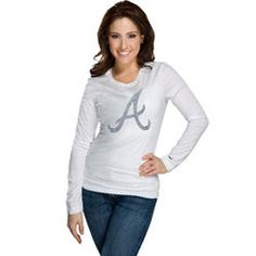 Atlanta Braves Women's Nike White Blended Long Sleeve T-Shirt $33.99 http://www.fansedge.com/Atlanta-Braves-Womens-Nike-White-Blended-Long-Sleeve-T-Shirt-_838399398_PD.html?social=pinterest_pfid66-44319