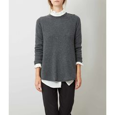 Charcoal Christal Sweater with Ivory Victoria Shirt