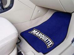 Marquette University 2-pc Printed Carpet Car Mat Set