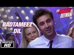 Badtameez Dil (Insolent Heart) - Full Song - from Upcoming #Bollywood Film 'Yeh Jawaani Hai Deewani' (This Youth's Crazy) @YJHDofficial | with Ranbir Kapoor, Deepika Padukone, Aditya Roy Kapur, Kalki Koechlin via @Lora Brawner Mirchi  Music: Pritam Chakraborty Lyrics: Amitabh Bhattacharya Singer: Benny Dayal