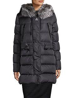 New Authentic 2018 Moncler Aphrotiti Removable Fox Fur Puffer Coat NWT Charcoal Moncler, Fur Puffer Coat, Jean Marsh, Studded Shirt, Toga Pulla, Rockport Cobb Hill, Fox Fur, Mini Skirts, Winter Jackets