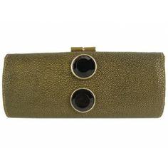 Jimmy Choo Antique Gold Stingray Clutch Bag