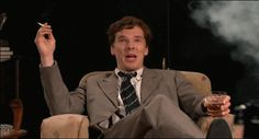 """As part of Late Night Tales in the U.K., Benedict Cumberbatch has been reading """"Flat of Angles"""" by Simon Cleary, in four parts."""