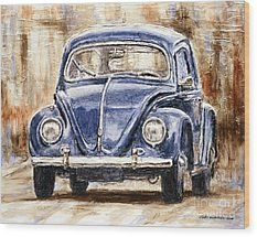 1960 Volkswagen Beetle Wood Print by Joey Agbayani