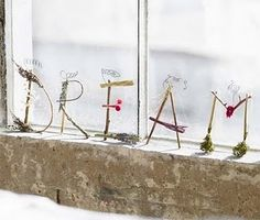 DREAM ~ letters made using twigs, sticks, moss, lavender & berries, attached w/ decorative wire...love!!