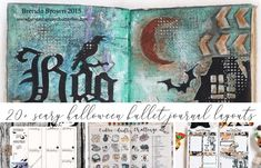 Here is a list of 25 Halloween bullet journal page ideas to help get you in the mood for the best, most scare Halloween yet! Halloween Potions, Creepy Halloween, Bullet Journal Layout, Bullet Journal Inspiration, Halloween Doodle, Happy Halloween, Bullet Journal Halloween, Hello November, Beautiful Witch