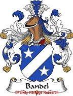 Bandel German Coat of Arms Print Family Crest Bandel