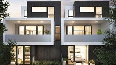 Bestsellers: Contemporary-style townhouses, depicted in this artist's impression, will add a modern feel to Alphington.