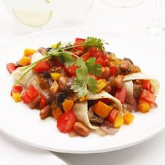 Roasted veggie enchiladas - Fitnessmagazine.com