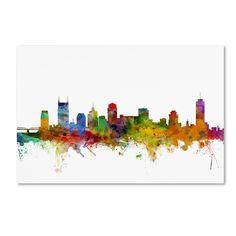 Trademark Fine Art Michael Tompsett 'Nashville Tennessee Skyline' Canvas Art