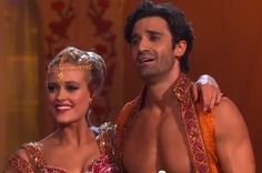 Peta Murgatroyd and Gilles Marini on week 4 of Dancing with the Stars