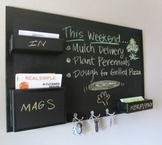 another diy chalkboard mail organizer