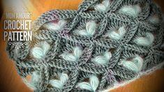 РЕДКИЙ и ПРОСТОЙ УЗОР КРЮЧКОМ «MON AMOUR» 💓 💓 💓 / BEAUTIFUL 3D CROCHET PATTERN - YouTube Crochet Shawl, Crochet Stitches, Knitting Patterns, Crochet Patterns, Crochet Tutorials, A Hook, Cross Stitch Flowers, Blanket, Youtube