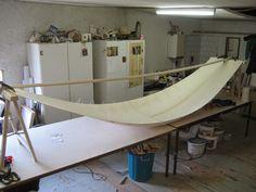 Gorewood Solo Canoe - a present-day interpretation of the birchbark canoe Plywood Sheets, Canoe Plans, Kayaking, Canoeing, Bay Of Islands, Surf Design, Sioux City, Pitcairn Islands, Boats