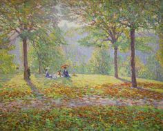 The Picnic by Wynford Dewhurst Manchester City Galleries.
