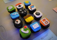 For your Tech Guy!   iPhone Cupcakes by Nick Bilton and Danielle Bilton