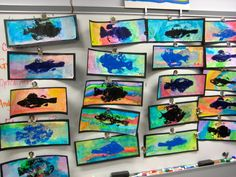 idea-gyotaku fish prints with mold for less stink but way cooler with real fish!