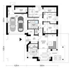 Sielanka - Rzut parteru Floor Plans, House Plans, How To Plan, Diagram, Blueprints For Homes, Home Plans, House Design, Floor Plan Drawing, House Floor Plans