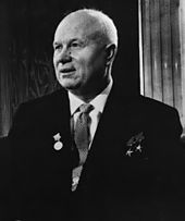 """We will bury you!""  is a phrase that was used by Soviet premier Nikita Khrushchev while addressing Western ambassadors at a reception at the Polish embassy in Moscow on November 18, 1956. The phrase was originally translated into English by Khrushchev's personal interpreter Viktor Sukhodrev"