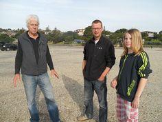 Erik, Melle en Bert in NZ