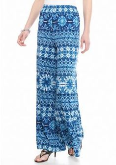 New Directions  Printed Palazzo Pants