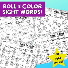 10 Roll & Color Sight Word Worksheets! – ISpyFabulous