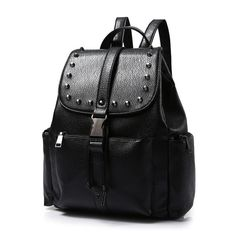 Vintage Women Faux Leather Backpack Rivet Shoulder Satchel Bag School  Bookbag  Unbranded  Backpack Travel b183350cf2272