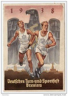 Deutsches Turn- und Sportfest Breslau 1938, propaganda poster