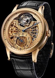 L.Leroy Osmior Skeleton Tourbillon Regulator Watch Watches Channel