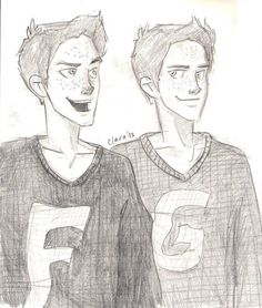 1 by hatepotion on deviantART Fred and George