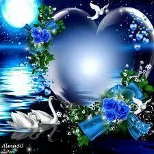 Blue Heart and Swans~~J Love Heart Images, Heart Pictures, I Love Heart, Beautiful Pictures, Heart Wallpaper, Wallpaper Backgrounds, Wallpapers, Coeur Gif, Heart Gif