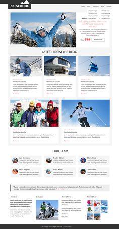 Website Theme , Skiing