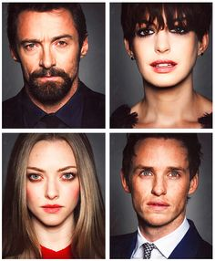 Les Miserables cast!  These four and all of the others were a perfect cast!!! I will relive this film forever!