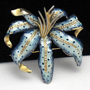 RARE 1941 CHANEL Novelty Co. Vintage Enamel Rhinestone Lily Brooch  http://www.rubylane.com/shop/atouchofrosevintagejewels/ilist/,c=All_Items,id=0,page=2.html