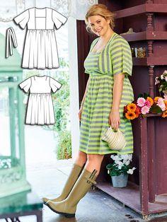Empire Dress (Plus Size) 05/2016 #burdastyle #sewing #pattern #sew #diy #style