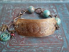 Brass etched HOPE Bracelet.Want to get back into Jewelry Making.