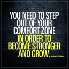 You need to step out of your comfort zone in order to become stronger and grow.   Nothing grows in the comfort zone.  Significant growth will not take place without significant effort. You will not grow if you're not challenging yourself in the gym. So believe in yourself, step out of your comfort zone and challenge yourself. And grow.  #comfortzone #challengeyourself #trainharder #gymmotivation